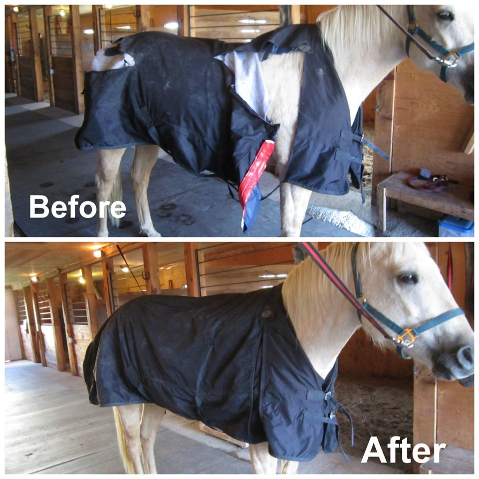 blanket repair before and after